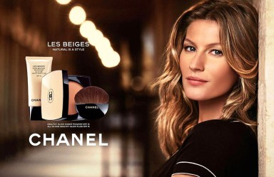 Gisele Bündchen for Chanel's Les Beiges line.